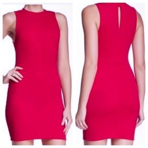 *NWT* LUSH | RED BARBERRY TEXTURED BODYCON DRESS